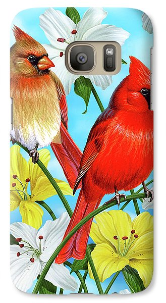 Cardinal Day Galaxy Case by JQ Licensing