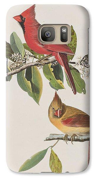 Cardinal Grosbeak Galaxy Case by John James Audubon