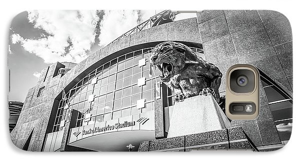 Carolina Panthers Stadium Black And White Photo Galaxy Case by Paul Velgos