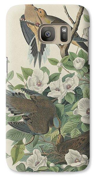 Carolina Pigeon Or Turtle Dove Galaxy Case by John James Audubon