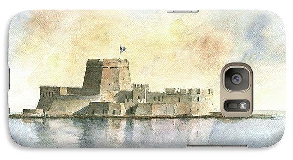 Castle Of Bourtzi In Nafplio Galaxy Case by Juan Bosco