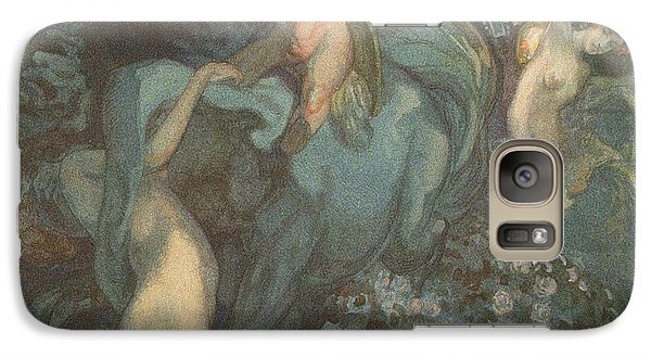 Centaur Nymphs And Cupid Galaxy Case by Franz von Bayros