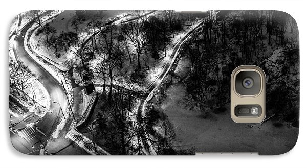 Galaxy Case featuring the photograph Central Park Trails by M G Whittingham