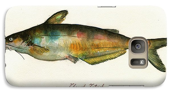 Channel Catfish Fish Animal Watercolor Painting Galaxy Case by Juan  Bosco
