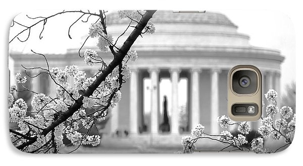 Cherry Tree And Jefferson Memorial Elegance  Galaxy Case by Olivier Le Queinec