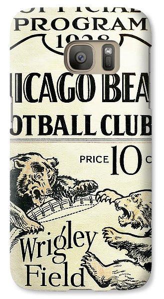 Chicago Bears Football Club Program Cover 1928 Galaxy S7 Case by Daniel Hagerman