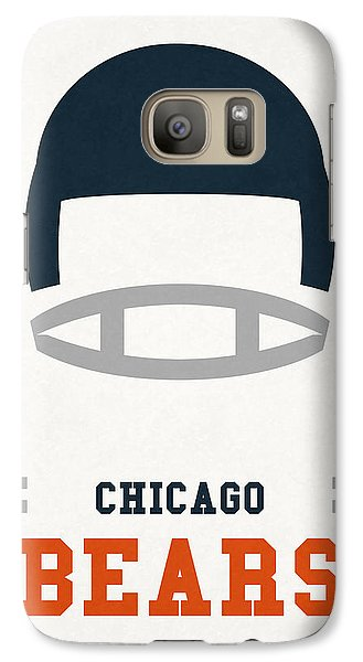 Chicago Bears Vintage Art Galaxy S7 Case by Joe Hamilton