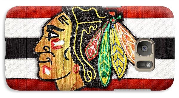 Chicago Blackhawks Barn Door Galaxy Case by Dan Sproul