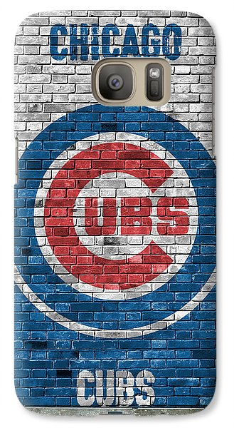 Chicago Cubs Brick Wall Galaxy Case by Joe Hamilton