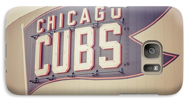 Chicago Cubs Sign Vintage Picture Galaxy S7 Case by Paul Velgos