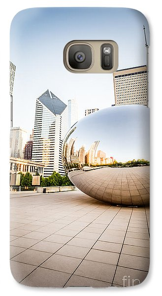 Chicago Gloud Gate And Chicago Skyline Photo Galaxy Case by Paul Velgos