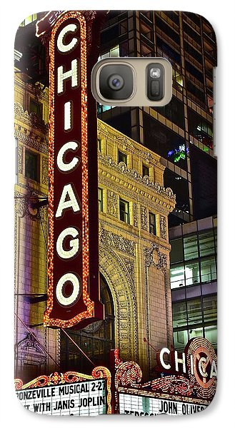 Chicago Theater Aglow Galaxy Case by Frozen in Time Fine Art Photography