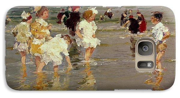Children On The Beach Galaxy Case by Edward Henry Potthast
