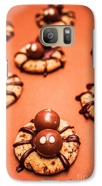 Chocolate Peanut Butter Spider Cookies Galaxy S7 Case by Jorgo Photography - Wall Art Gallery