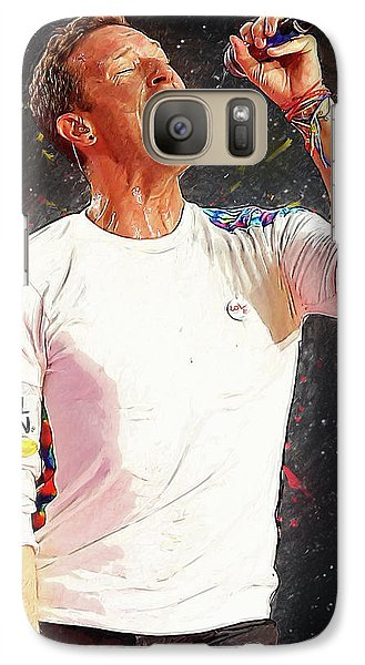 Chris Martin - Coldplay Galaxy S7 Case by Semih Yurdabak