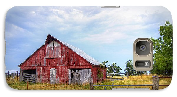 Christian School Road Barn Galaxy S7 Case by Cricket Hackmann