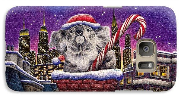 Christmas Koala In Chimney Galaxy Case by Remrov