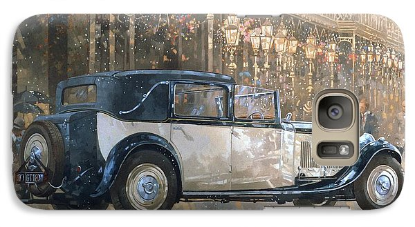 Christmas Lights And 8 Litre Bentley Galaxy S7 Case by Peter Miller