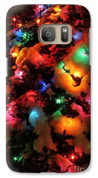 Christmas Lights Coldplay Galaxy S7 Case by Wayne Moran