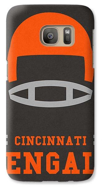 Cincinnati Bengals Vintage Art Galaxy Case by Joe Hamilton
