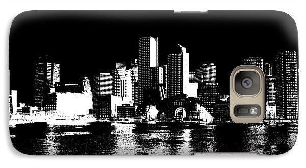 City Of Boston Skyline   Galaxy Case by Enki Art
