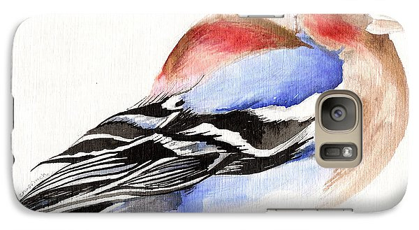 Colorful Chaffinch Galaxy Case by Nancy Moniz