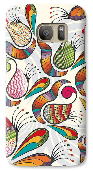 Colorful Paisley Pattern Galaxy Case by Famenxt DB