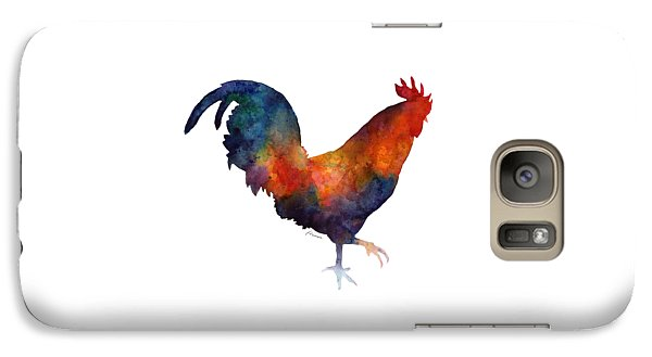 Colorful Rooster Galaxy Case by Hailey E Herrera