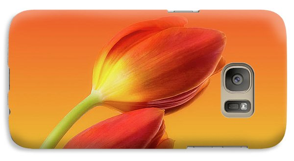 Colorful Tulips Galaxy Case by Wim Lanclus