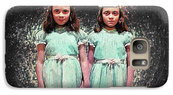 Come Play With Us - The Shining Twins Galaxy Case by Taylan Apukovska