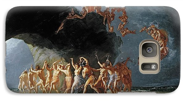Come Unto These Yellow Sands Galaxy Case by Richard Dadd
