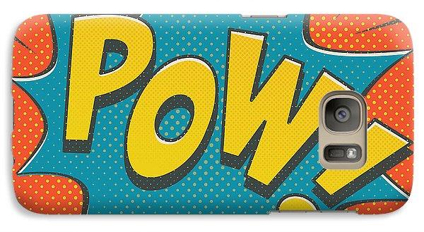 Comic Pow Galaxy S7 Case by Mitch Frey