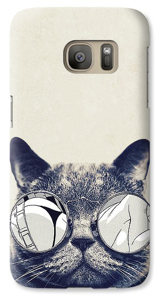 Cool Cat Galaxy S7 Case by Vitor Costa