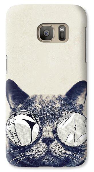 Cool Cat Galaxy Case by Vitor Costa