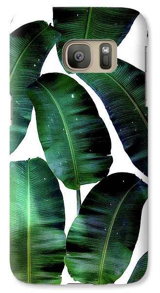 Cosmic Banana Leaves Galaxy S7 Case by Uma Gokhale