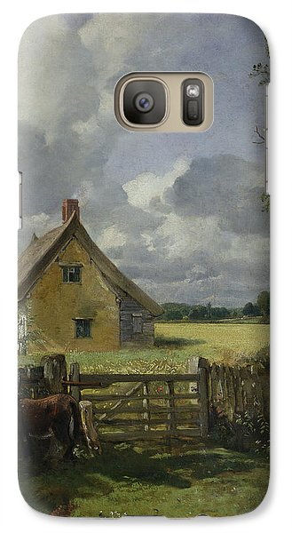 Cottage In A Cornfield Galaxy Case by John Constable