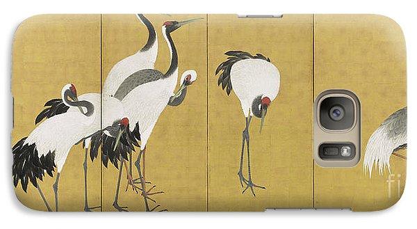 Cranes Galaxy Case by Maruyama Okyo
