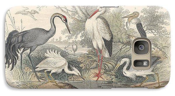 Cranes Galaxy Case by Oliver Goldsmith