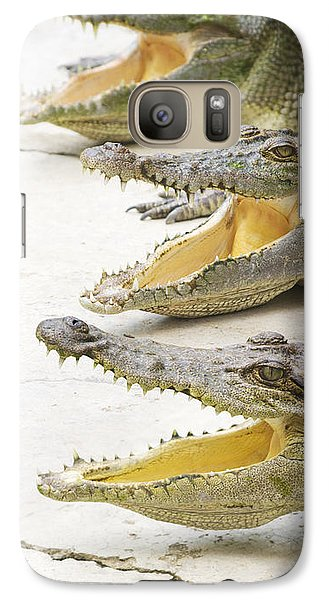 Crocodile Choir Galaxy S7 Case by Jorgo Photography - Wall Art Gallery
