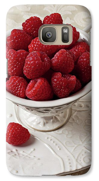 Cup Full Of Raspberries  Galaxy Case by Garry Gay