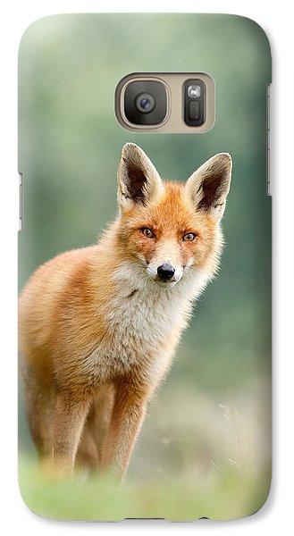 Curious Fox Galaxy S7 Case by Roeselien Raimond