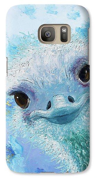 Curious Ostrich Galaxy Case by Jan Matson