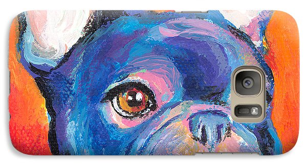 Cute French Bulldog Painting Prints Galaxy S7 Case by Svetlana Novikova