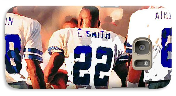 Dallas Cowboys Triplets Galaxy S7 Case by Paul Van Scott