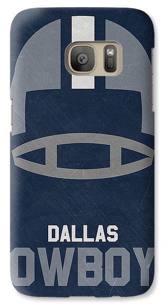 Dallas Cowboys Vintage Art Galaxy S7 Case by Joe Hamilton