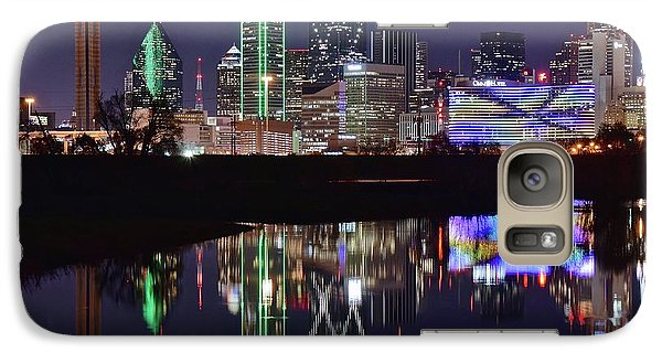 Dallas Reflecting At Night Galaxy S7 Case by Frozen in Time Fine Art Photography
