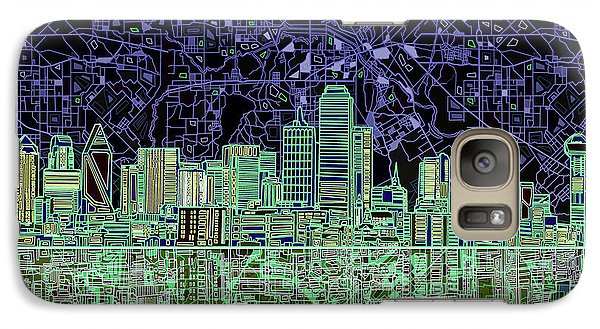 Dallas Skyline Abstract 4 Galaxy S7 Case by Bekim Art