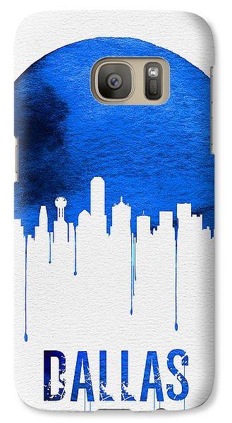 Dallas Skyline Blue Galaxy S7 Case by Naxart Studio