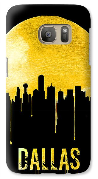 Dallas Skyline Yellow Galaxy S7 Case by Naxart Studio