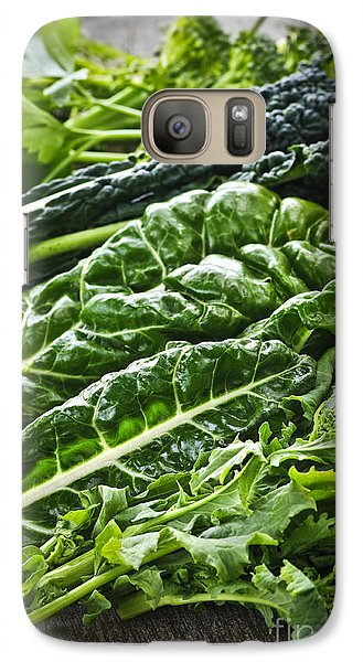Dark Green Leafy Vegetables Galaxy Case by Elena Elisseeva